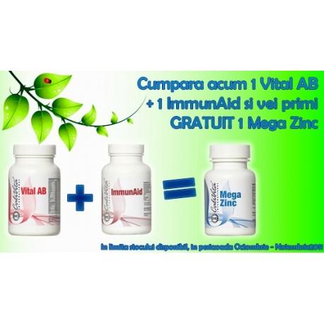 Super promotie Calivita: Vital AB + ImmunAid