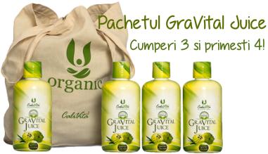 Pachetul GraVital Juice 3+1 Gratuit