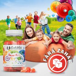 Sugar Free Gummies Jeleuri Naturale Fara Zahar cu Multivitamine si Minerale Pentru Copii