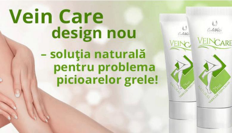 VeinCare este un produs naturist sub forma de gel pentru uz extern, care are ca substante active hirudina extrasa din saliva lipitorilor medicinale si extract din planta Siegesbeckia